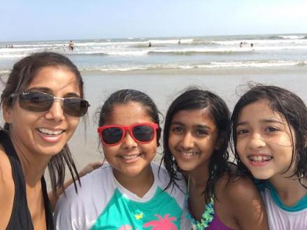 Sheetal with girls