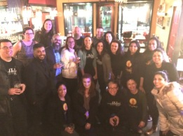 """After months of planning, here is a small group of us celebrating the success of our amazing """"Night To Shine-Crossbridge!"""" at The Red Hen!"""