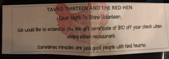 A shout out to The Red Hen for this generous gesture! Thank you! :)